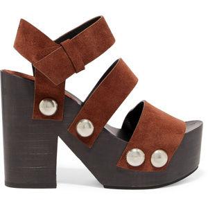 { ALEXANDER WANG } Suede Platform Sandals- SZ37